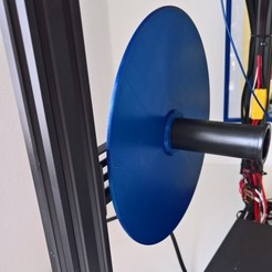 Foto_2.jpg Download free STL file Protective disc for filament holder • 3D printer model, darthlycanis