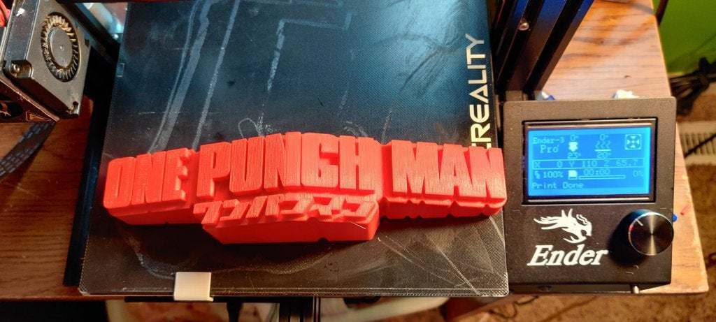 Download Free Stl File One Punch Man 3d Logo Model To 3d Print Cults