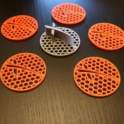 Photo Jun 05, 7 08 08 AM.jpg Download STL file SpaceX Hex coaster set • Template to 3D print, benxfactor