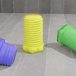 Image 3.jpg Download free OBJ file Soda Bottle Threads • 3D printable design, skippy111taz