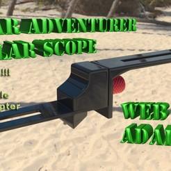 SA_PS_Cam_Adapter1T.jpg Download free STL file Star Adventurer Polar Scope Webcam Adapter • 3D printable object, skippy111taz