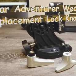 Title.jpg Download free STL file Star Adventurer Wedge Replacement Lock Knob • 3D printer model, skippy111taz