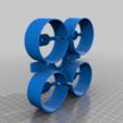 Télécharger plan imprimante 3D gatuit Ventilateur quadruple conduit, touchthebitum