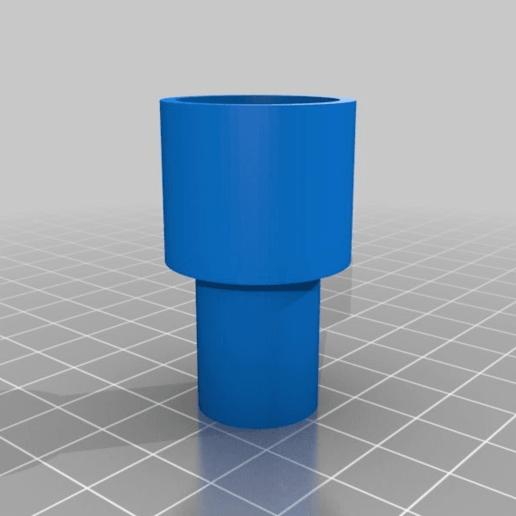 filaflex_embout.png Download free STL file FIlaflex adapter for Prusa i3 Hephestos • Design to 3D print, touchthebitum