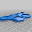 """e512617c8bd186219d9617d760ffad0b.png Download free STL file 25mm Base Movement Tray .5"""" Cohesion • 3D printer object, aLazyCamper"""