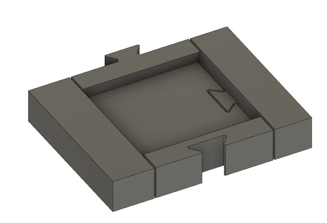F360img.jpg Download free STL file 25mm Base Slide Tray Scale-able • 3D printable object, aLazyCamper