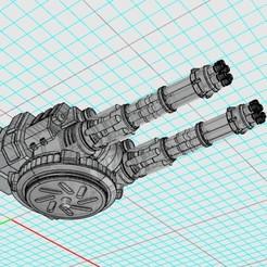 Descargar archivos STL gratis 28mm Supresión del caparazón Gatling, johnbearross