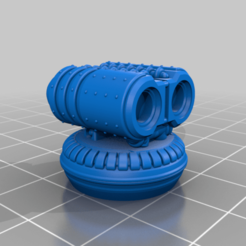 DominusMissileLauncher-Mk2LauncherBodyFlat-Magnetized.png Download free STL file Double Missile Launcher For Dominus Imperial Knights-Horizontal Orientation • 3D printable model, johnbearross