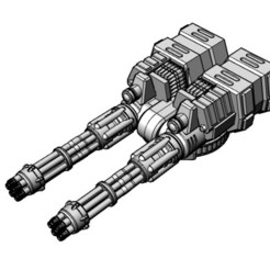 CarapaceGatling3.jpg Download free STL file Suppressive Carapace Gatling-2 Inch (51mm) Overall Length • 3D printer object, johnbearross