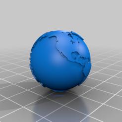 Globe-Hollow-Metric-25point4mm.png Télécharger fichier STL gratuit Globe terrestre creux d'un pouce • Plan imprimable en 3D, johnbearross
