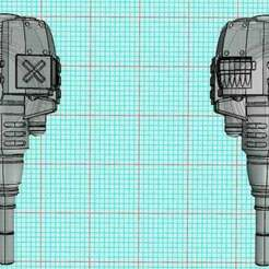 CarapaceAutocannon-5.jpg Download free STL file Chunkier Carapace Autocannon Turrets Mk2 For Dominus Imperial Knights • 3D printable model, johnbearross