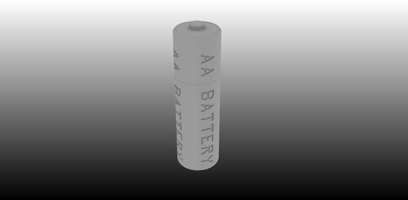 AA Battery.jpg Download free STL file AA Battery Reference Model • 3D print design, johnbearross