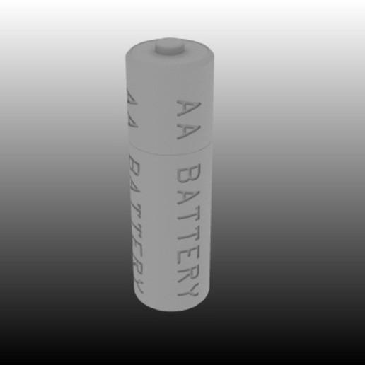 Télécharger plan imprimante 3D gatuit Modèle de référence de la pile AA, johnbearross