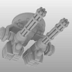 suppressive-gatlings-8.jpg Download free STL file 28mm Suppressive Gatling Cannon Turret • 3D printer design, johnbearross