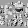 Defender Layout 1.jpg Télécharger fichier STL gratuit 1/100e de l'échelle Defender Mech • Design pour imprimante 3D, johnbearross