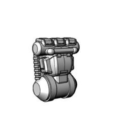 Download free 3D printer files 28mm 40K Infantry Backpack 11.5mm Tall, johnbearross