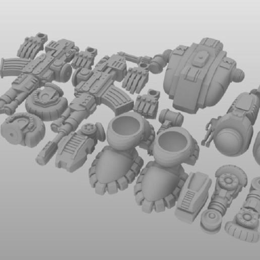 Defender Layout 2.jpg Télécharger fichier STL gratuit 1/100e de l'échelle Defender Mech • Design pour imprimante 3D, johnbearross