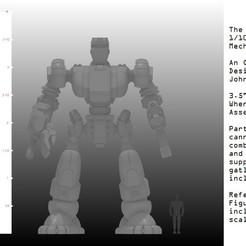 Download free 3D printer templates 1/100th Scale Defender Mech, johnbearross