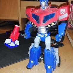 EgCy7zFWoAIt86v.jpg Télécharger fichier OBJ gratuit Transformers Animated Optimus Prime Axe • Design pour imprimante 3D, Tfpivman