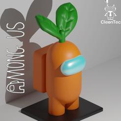 Download STL file AMONG US ( Carrot ) • 3D printer design, Cleontec_EC