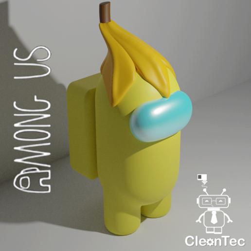 Amongus_13_2.png Download STL file AMONG US ( Banana ) • Model to 3D print, Cleontec_EC