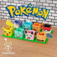 photo_2020-10-27_21-11-25.jpg Download STL file Pack 7 Pokémon Pots /Pack 7 Pokémon Pots • 3D print object, Cleontec_EC
