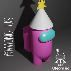 Amongus_4.png Download STL file AMONG US ( Happy Birthday ) • 3D printer object, Cleontec_EC