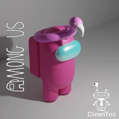 Download STL file AMONG US ( Flamenco Float ) • 3D printer design, Cleontec_EC