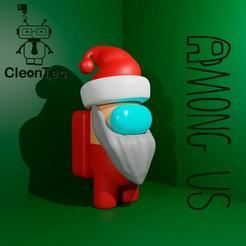 PAPA_NOEL.jpg Download STL file AMONG US ( Santa Claus), SEPARATES INTO PARTS • 3D printing model, Cleontec_EC