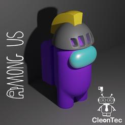 Amongus_11.png Download STL file AMONG US ( Medieval Helmet ) • 3D printable template, Cleontec_EC