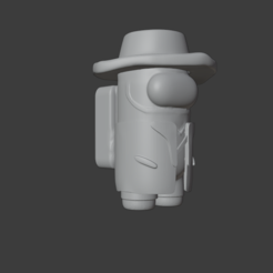 Captura.PNG Download STL file Among Us (Indiana Jones) • 3D printable object, Cleontec_EC