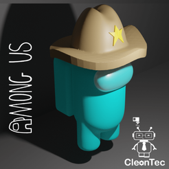 Amongus_8.png Download STL file AMONG US ( Sheriff ) • 3D printable object, Cleontec_EC