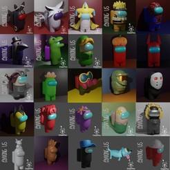 Pack3Final.jpg Télécharger fichier STL AMONG US Pack 3 26 Figuras y llaveros Personalizado + Mascota/AMONG US Pack 3 26 Figuras Personalizado + Pet • Design à imprimer en 3D, Cleontec_EC