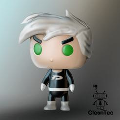 Danny phanton.png Download STL file Danny Phantom • 3D print design, Cleontec_EC