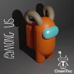 Amongus_10.png Download STL file AMONG US ( Horns ) • Design to 3D print, Cleontec_EC