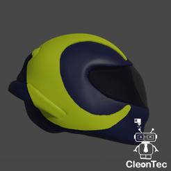 Casco1.png Télécharger fichier STL Casque porte-clés Valentino Rossi • Design à imprimer en 3D, Cleontec_EC