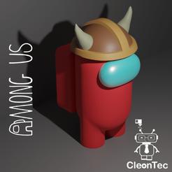 Amongus_12.png Download STL file AMONG US ( Helmet with horns ) • 3D printer object, Cleontec_EC