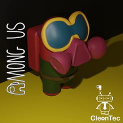 Among_US_Peligro.png Télécharger fichier STL ENTRE NOUS ( Danger ) • Design pour imprimante 3D, Cleontec_EC