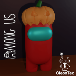 Among_Us_Calabaza.png Download STL file AMONG US Halloween ( Pumpkin ) - • 3D printable model, Cleontec_EC