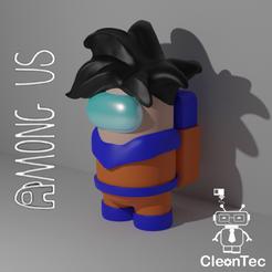 Amongus17_2.png Download STL file AMONG US ( Goku ) • 3D printable template, Cleontec_EC