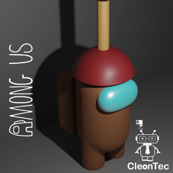 Amongus_5.png Download STL file AMONG US ( Bathroom Cleaner ) • 3D print design, Cleontec_EC