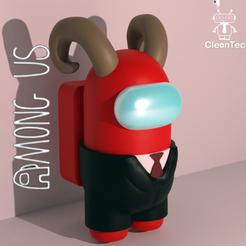 Download STL file AMONG US ( Mr.Demon ) • 3D printable model, Cleontec_EC