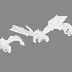 Download free STL file Drakon Miniatures: Remixes of Valandar's Drake Miniatures, Ilhadiel