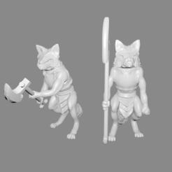 Royal_Guard_thingiverse_pic.png Télécharger fichier STL gratuit Foxmen : Miniatures de la Garde royale • Objet pour imprimante 3D, Ilhadiel