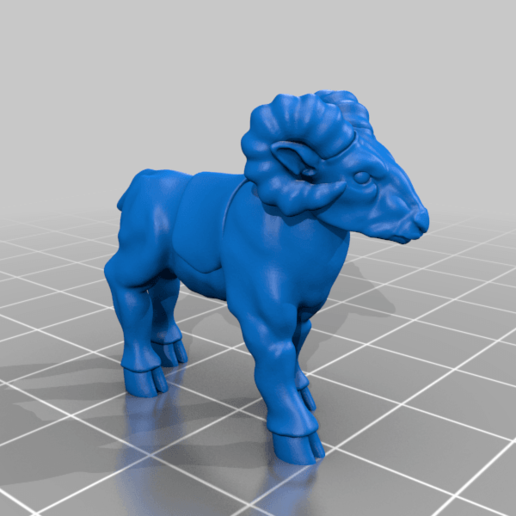 goat_v2.png Download free STL file Dwarf Knight Goat Cavalry Miniatures • 3D print object, Ilhadiel