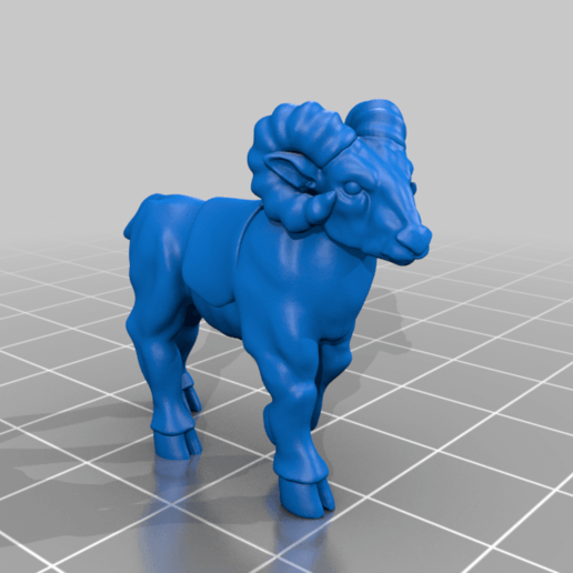 goat_v1.png Download free STL file Dwarf Knight Goat Cavalry Miniatures • 3D print object, Ilhadiel