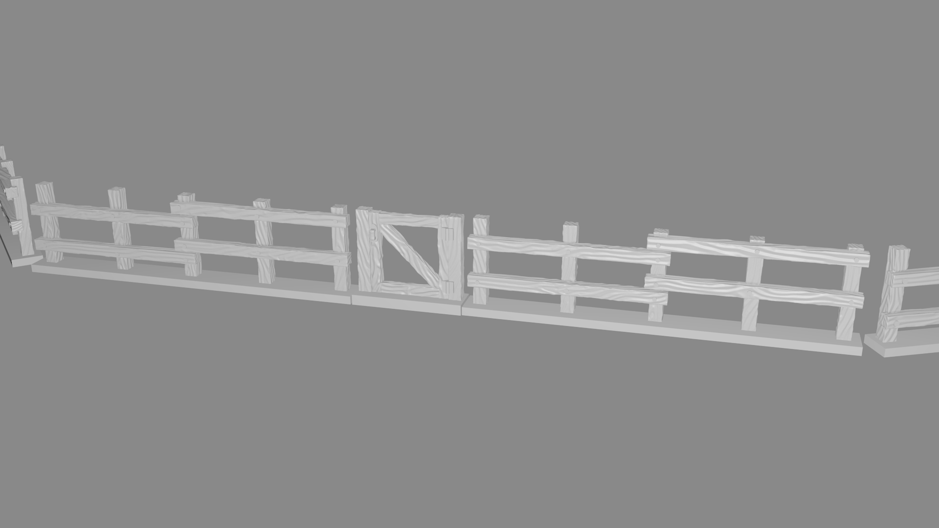 total.png Download free STL file Fence miniatures • 3D printing model, Ilhadiel
