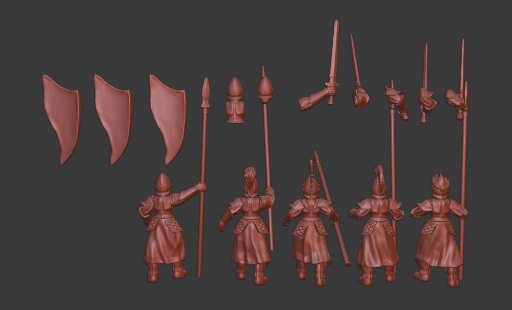 Spearmen_v2.png Télécharger fichier STL gratuit Infatrie des elfes / Miniatures des lanciers • Plan imprimable en 3D, Ilhadiel
