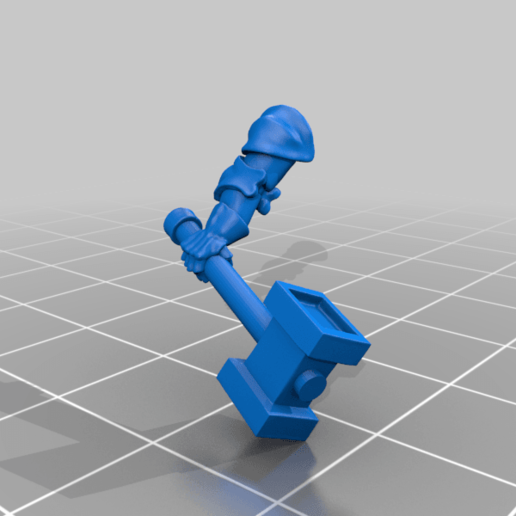 right_arm_v1.png Download free STL file Dwarf Knight Goat Cavalry Miniatures • 3D print object, Ilhadiel