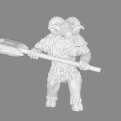 Télécharger fichier impression 3D gratuit Foxmen : Minoaries / Minotaure miniature, Ilhadiel